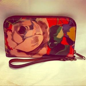 Lovely leather floral print Patricia Nash wallet